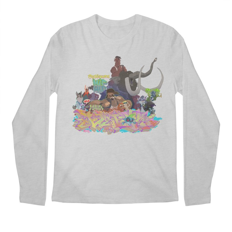 Prehistoric hip Hop Men's Regular Longsleeve T-Shirt by Dedos tees