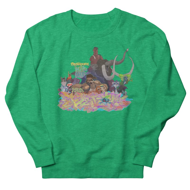 Prehistoric hip Hop Women's French Terry Sweatshirt by Dedos tees