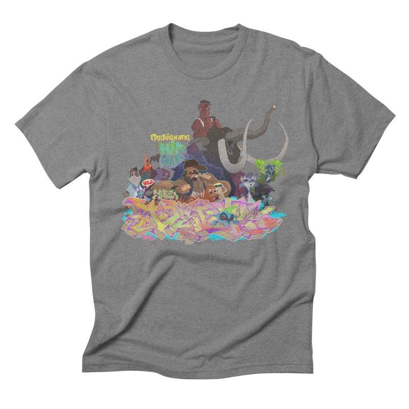 Prehistoric hip Hop Men's Triblend T-Shirt by Dedos tees
