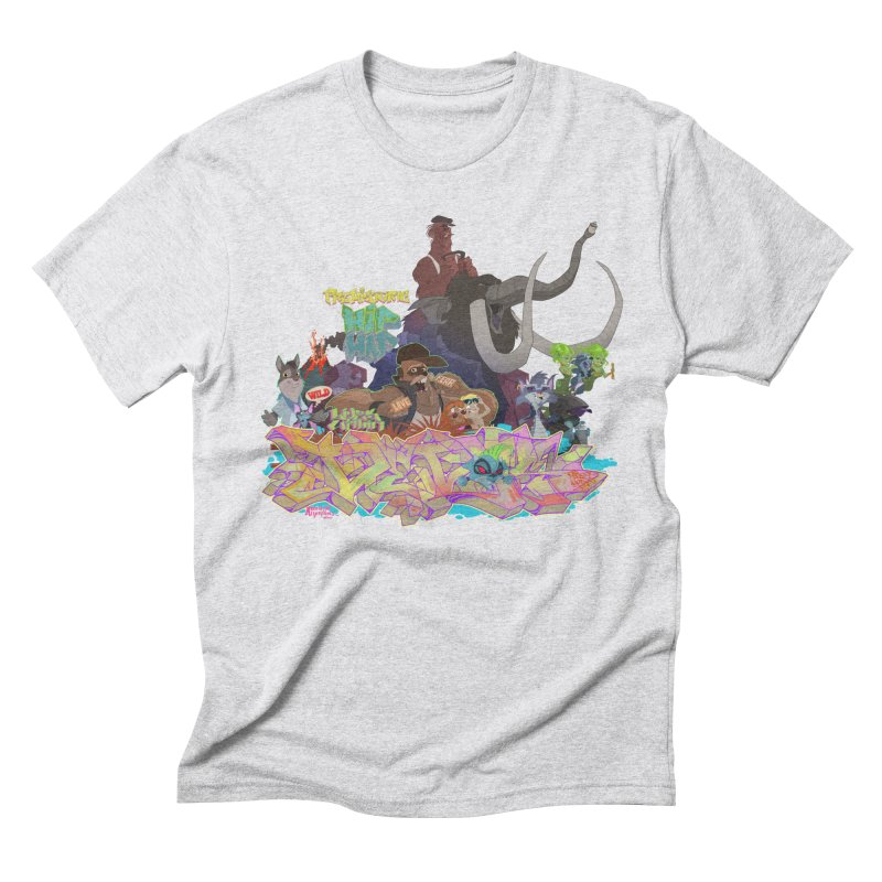 Prehistoric hip Hop Men's Triblend T-Shirt by Dedos tees