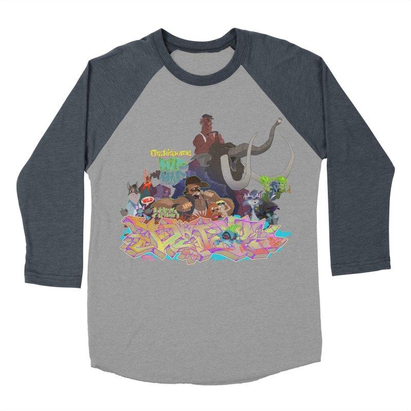 Prehistoric hip Hop Women's Baseball Triblend T-Shirt by Dedos tees
