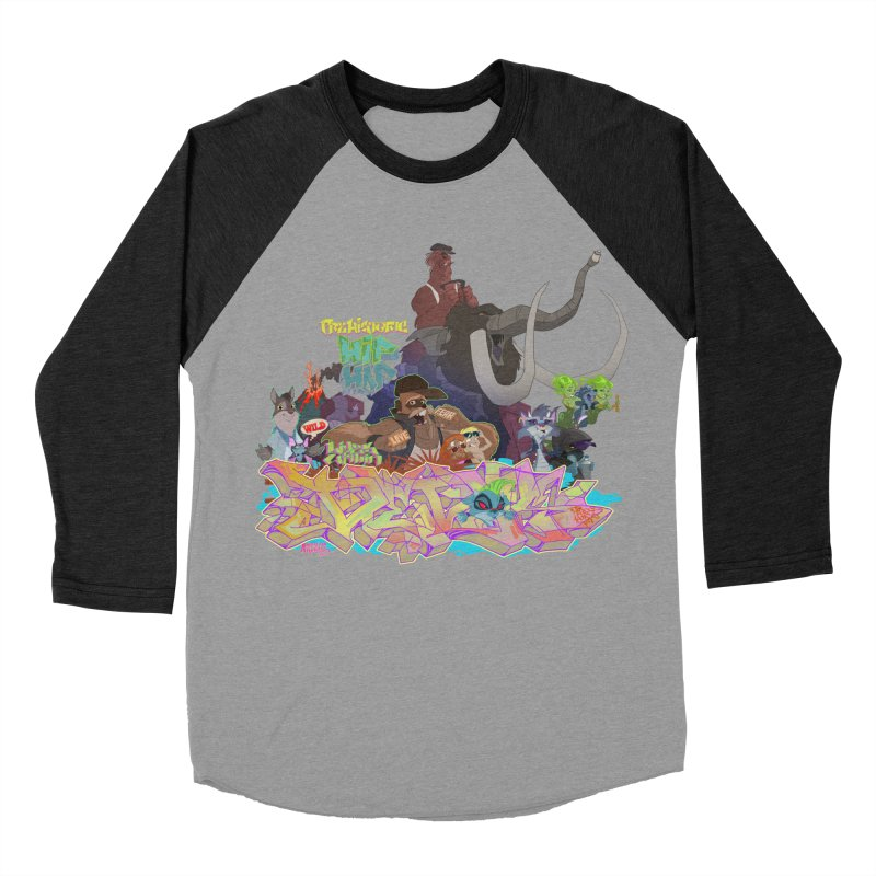 Prehistoric hip Hop Men's Baseball Triblend T-Shirt by Dedos tees