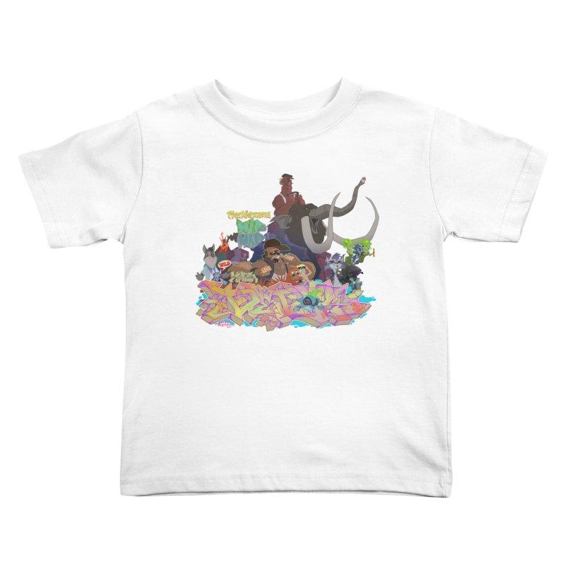 Prehistoric hip Hop Kids Toddler T-Shirt by Dedos tees