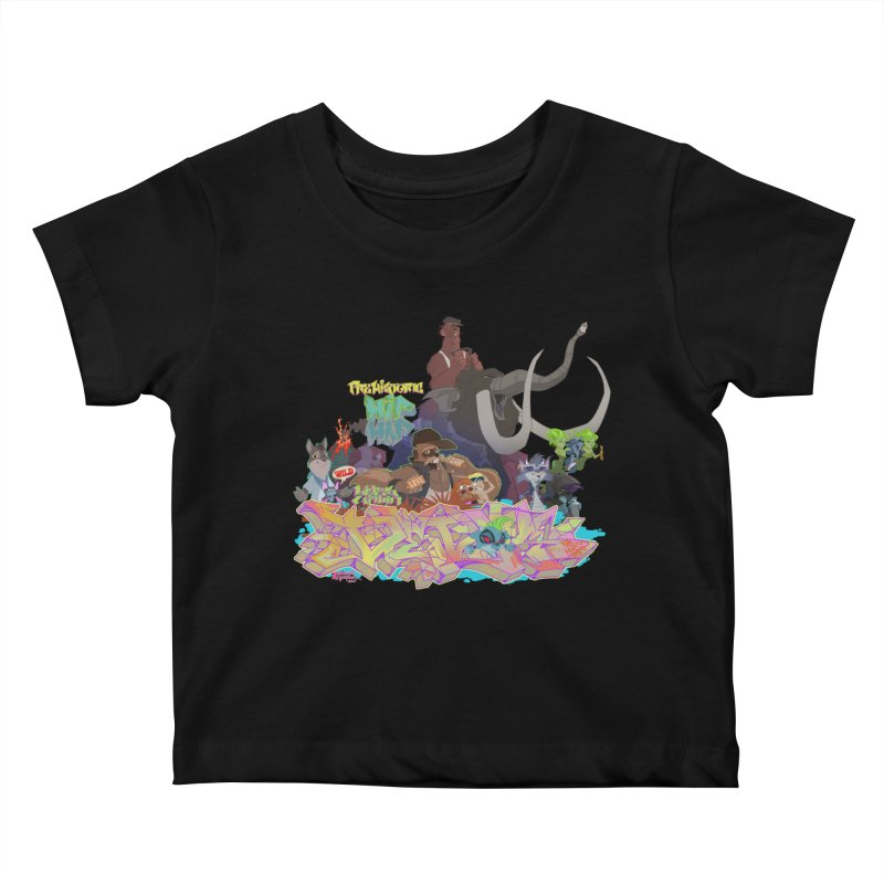 Prehistoric hip Hop Kids Baby T-Shirt by Dedos tees