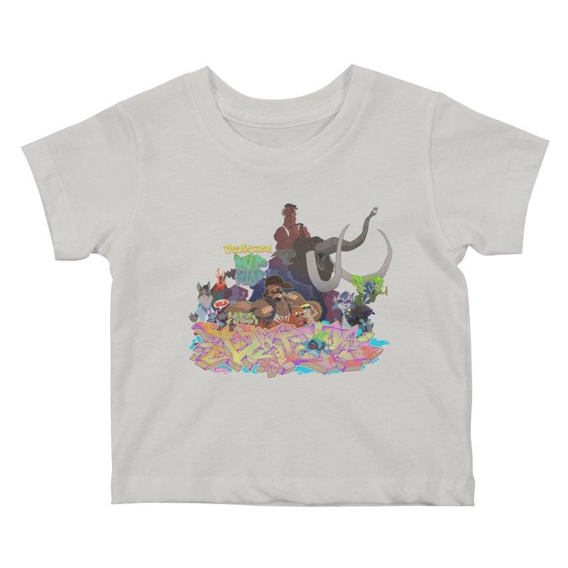 Prehistoric hip Hop Kids Baby T-Shirt by Dedos tees