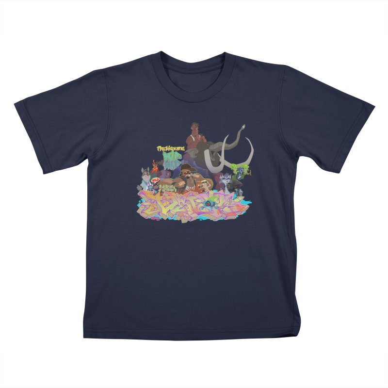 Prehistoric hip Hop Kids T-Shirt by Dedos tees