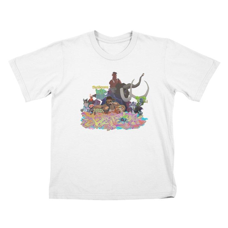 Prehistoric hip Hop Kids T-Shirt by Dedos tees