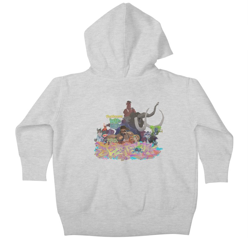 Prehistoric hip Hop Kids Baby Zip-Up Hoody by Dedos tees