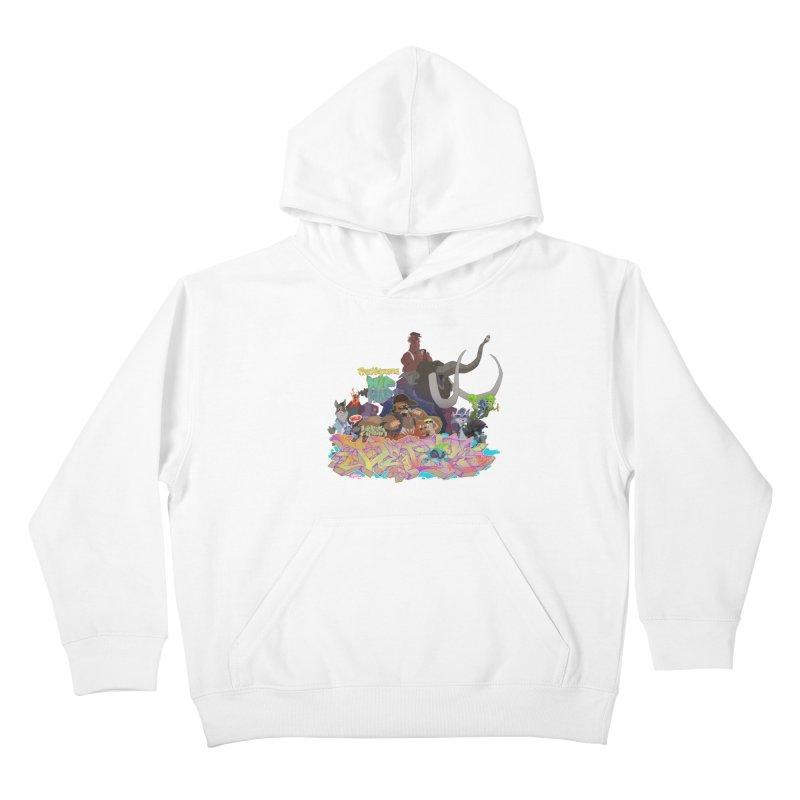 Prehistoric hip Hop Kids Pullover Hoody by Dedos tees