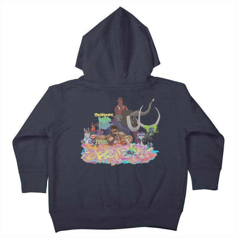 Prehistoric hip Hop Kids Toddler Zip-Up Hoody by Dedos tees