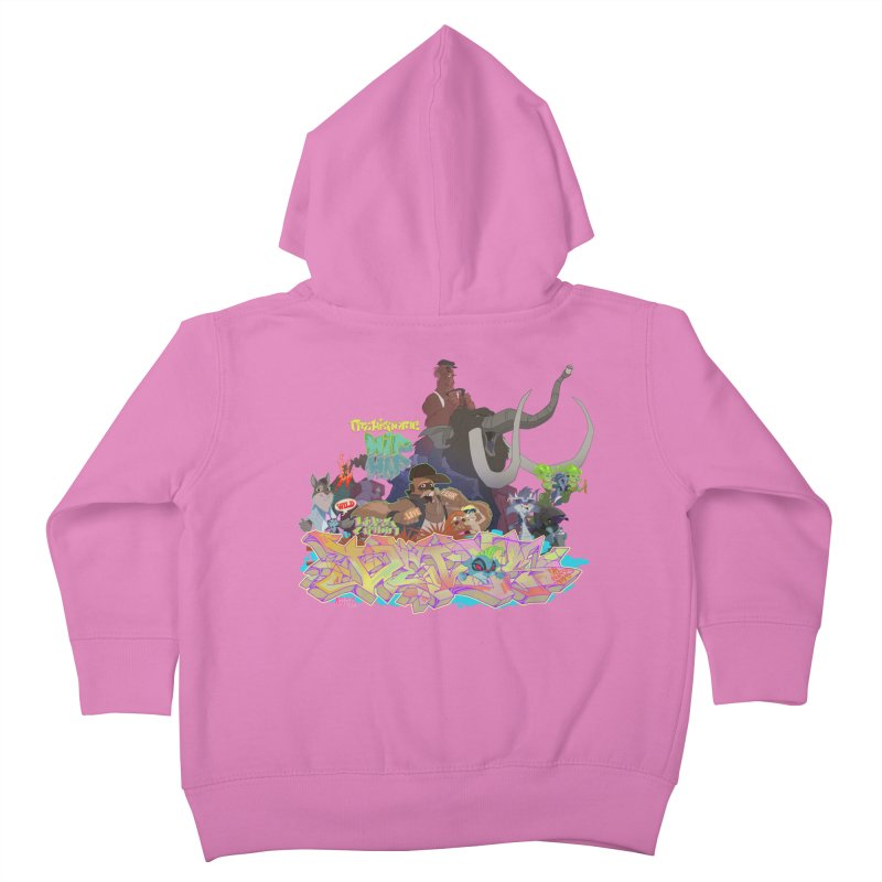 Prehistoric hip Hop Kids Toddler Zip-Up Hoody by Dedos tees