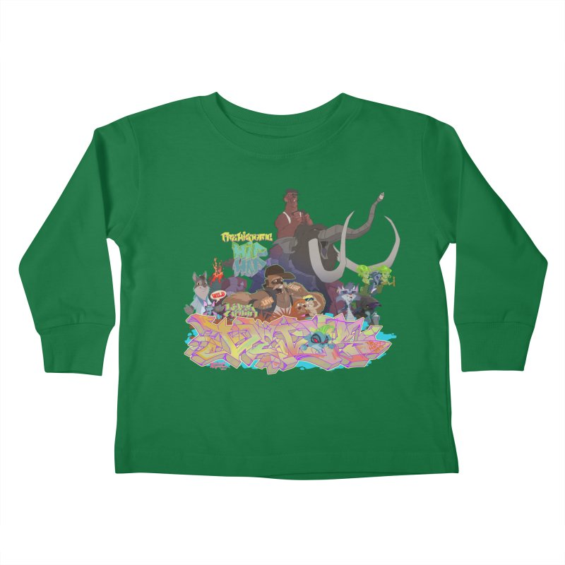 Prehistoric hip Hop Kids Toddler Longsleeve T-Shirt by Dedos tees