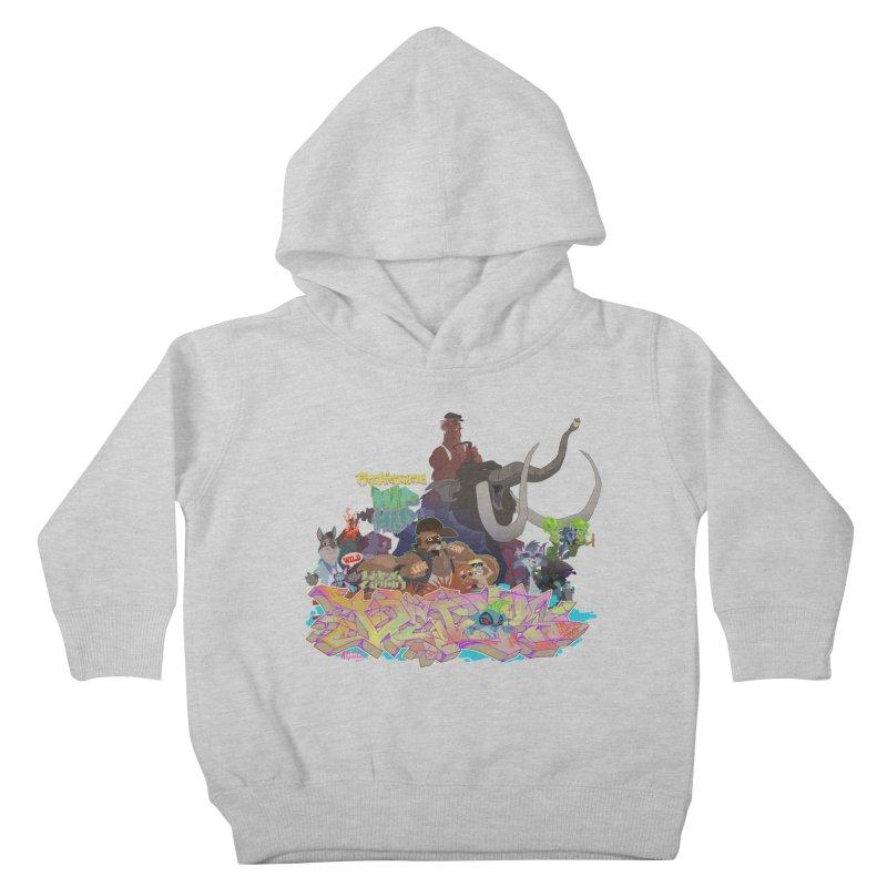 Prehistoric hip Hop Kids Toddler Pullover Hoody by Dedos tees