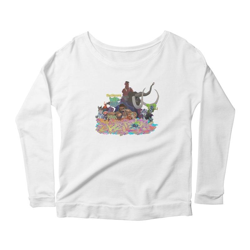 Prehistoric hip Hop Women's Scoop Neck Longsleeve T-Shirt by Dedos tees