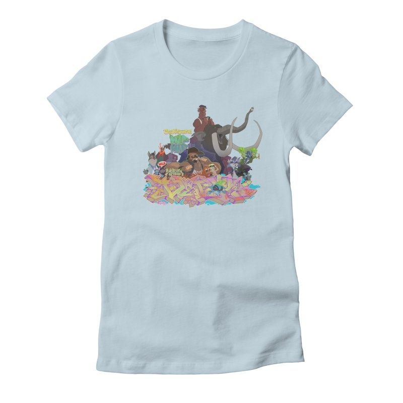 Prehistoric hip Hop Women's Fitted T-Shirt by Dedos tees