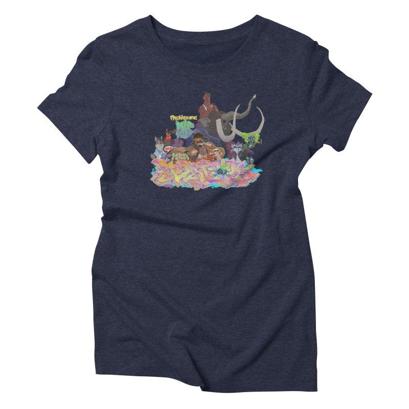 Prehistoric hip Hop Women's Triblend T-Shirt by Dedos tees
