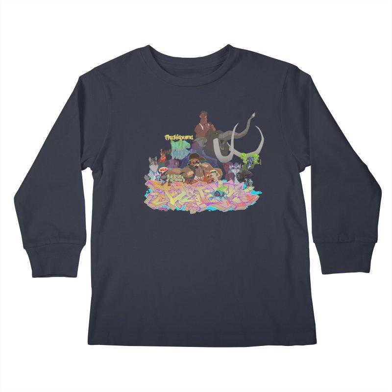 Prehistoric hip Hop Kids Longsleeve T-Shirt by Dedos tees