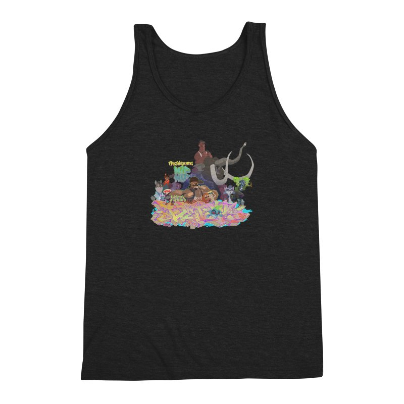 Prehistoric hip Hop Men's Triblend Tank by Dedos tees