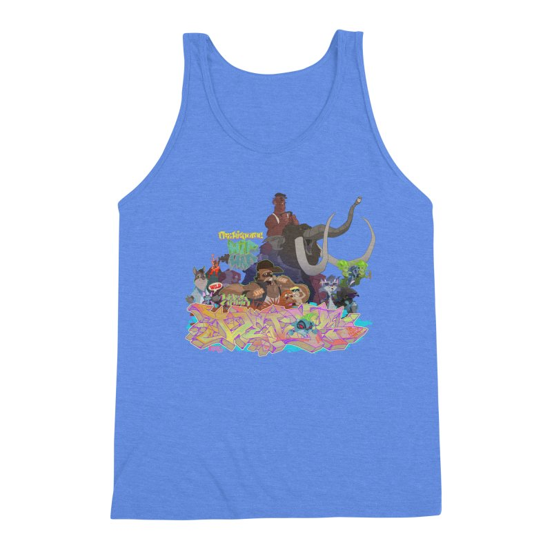 Prehistoric hip Hop Men's Triblend Tank by Dedos tees
