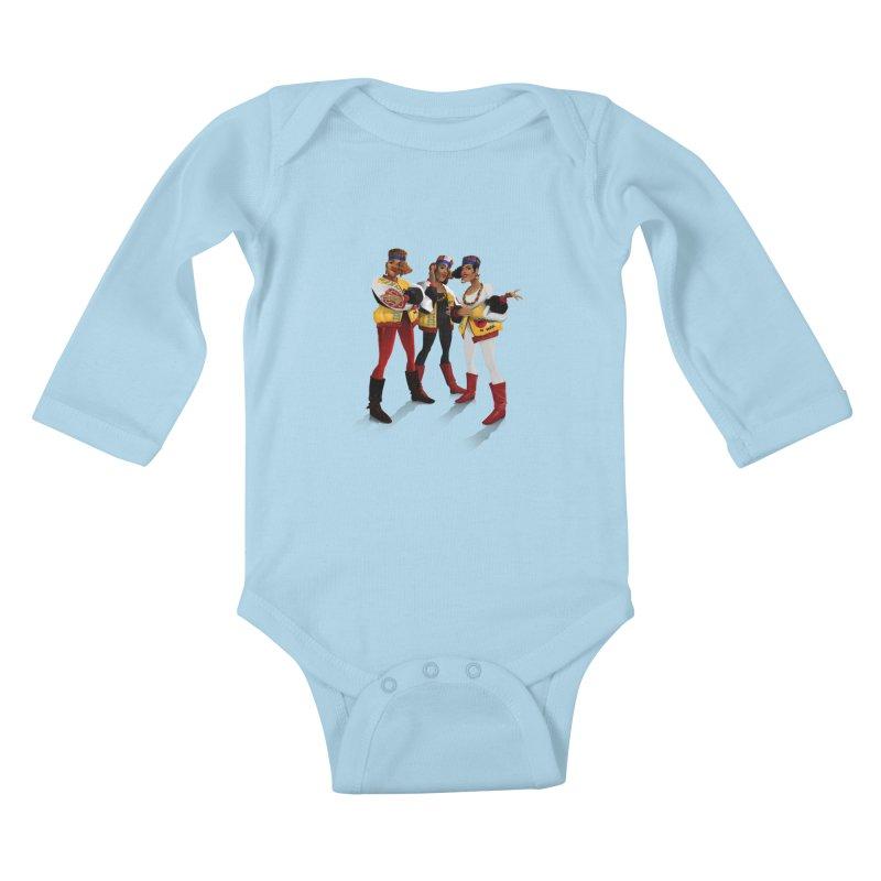 Salt n Pepa Kids Baby Longsleeve Bodysuit by Dedos tees