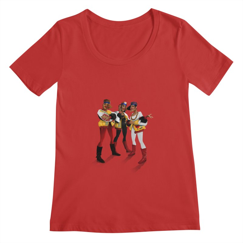 Salt n Pepa Women's Scoopneck by Dedos tees