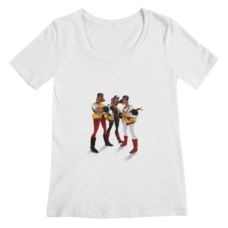 Salt n Pepa Women's Regular Scoop Neck by Dedos tees