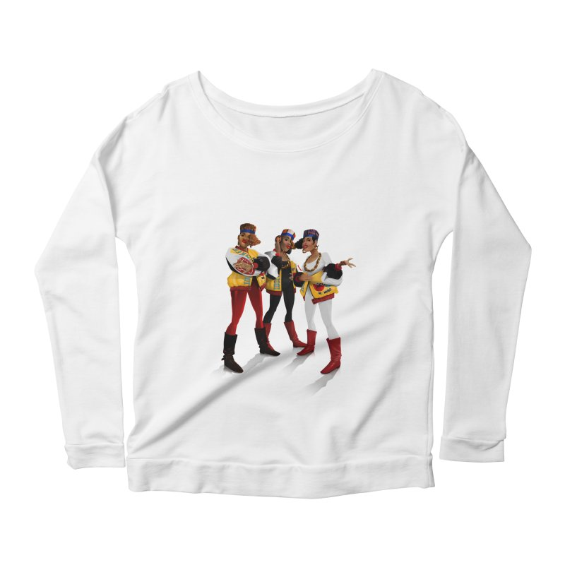 Salt n Pepa Women's Scoop Neck Longsleeve T-Shirt by Dedos tees