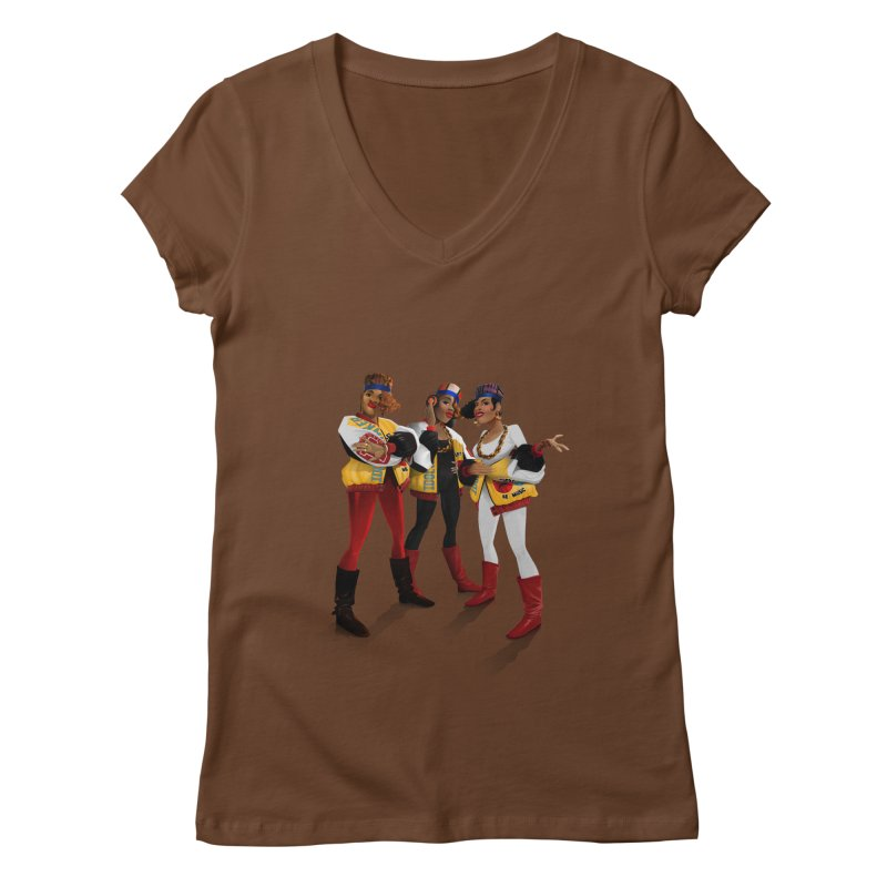 Salt n Pepa Women's Regular V-Neck by Dedos tees