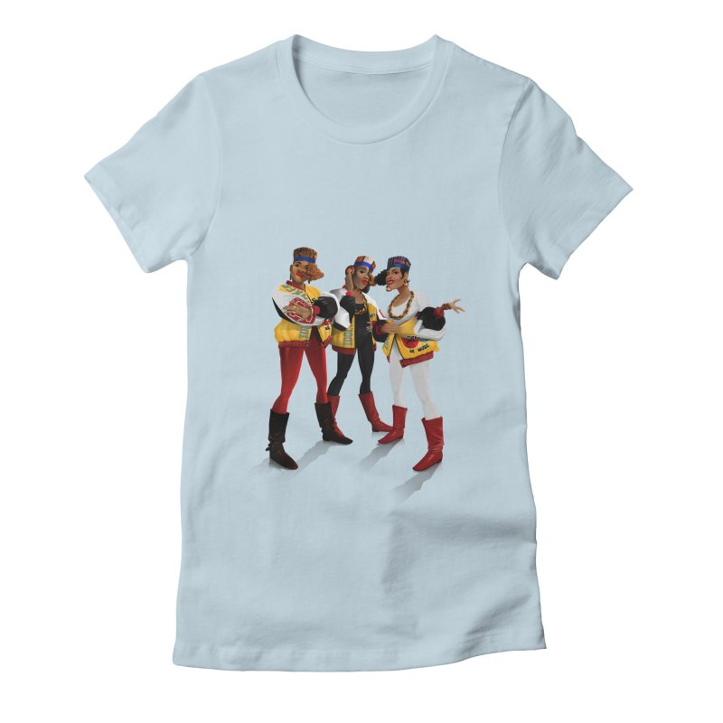 Salt n Pepa Women's Fitted T-Shirt by Dedos tees