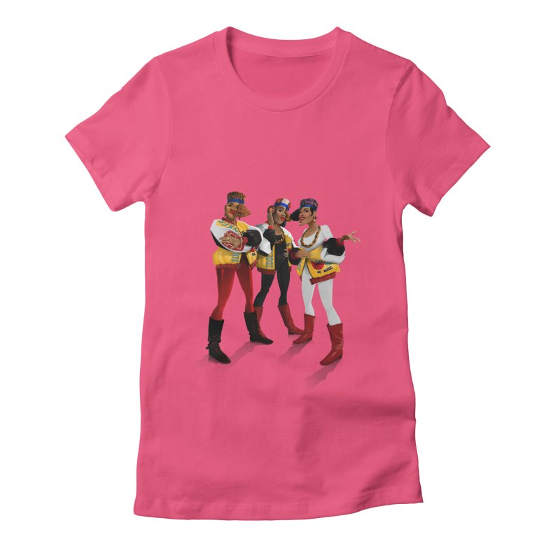 Salt n Pepa Women's Fitted T-Shirt by Dedos tees