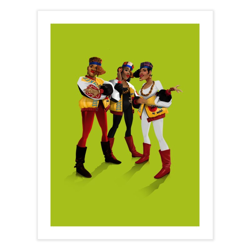 Salt n Pepa Home Fine Art Print by Dedos tees