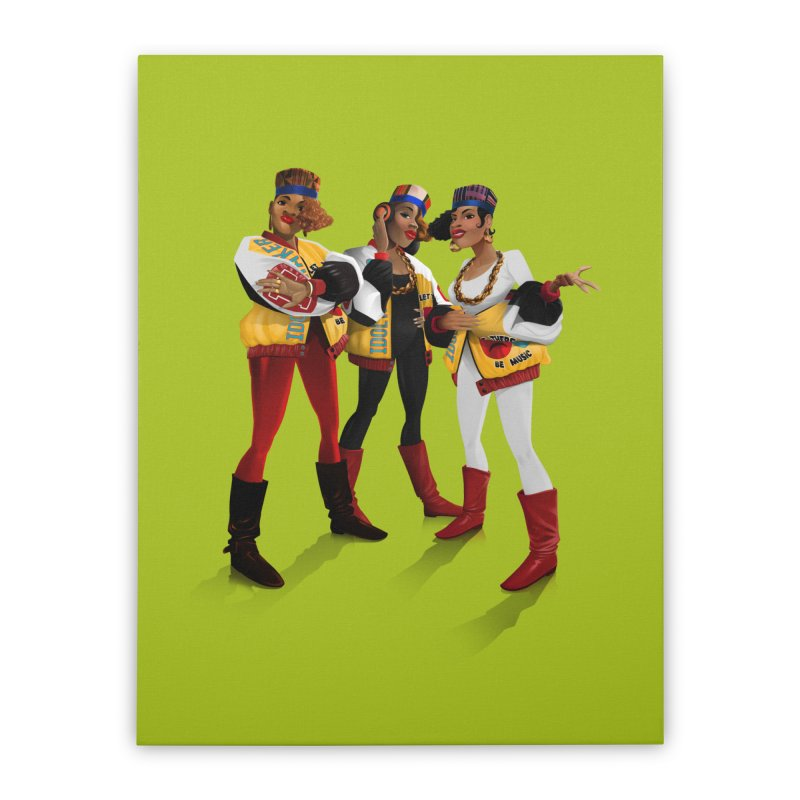 Salt n Pepa Home Stretched Canvas by Dedos tees