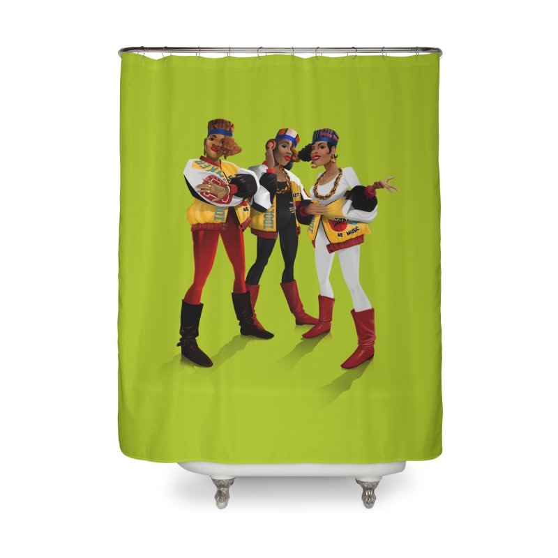 Salt n Pepa Home Shower Curtain by Dedos tees