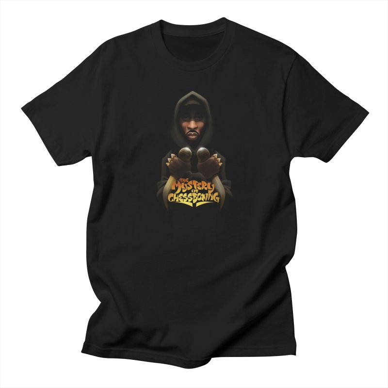 mystery of chessboxing in Men's Regular T-Shirt Black by Dedos tees