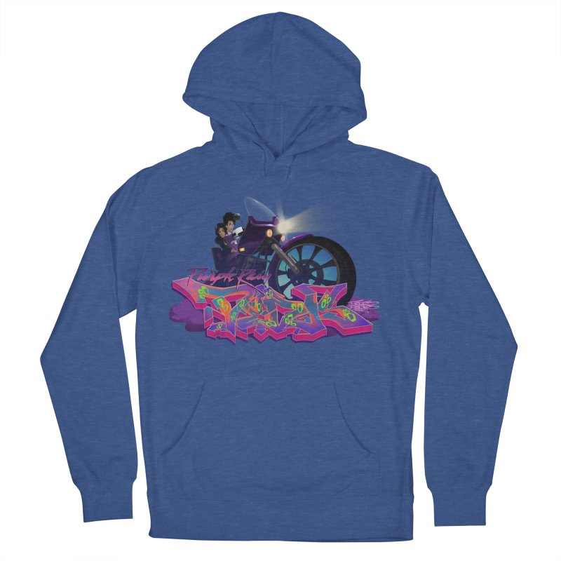 Dedos purple rain Women's French Terry Pullover Hoody by Dedos tees