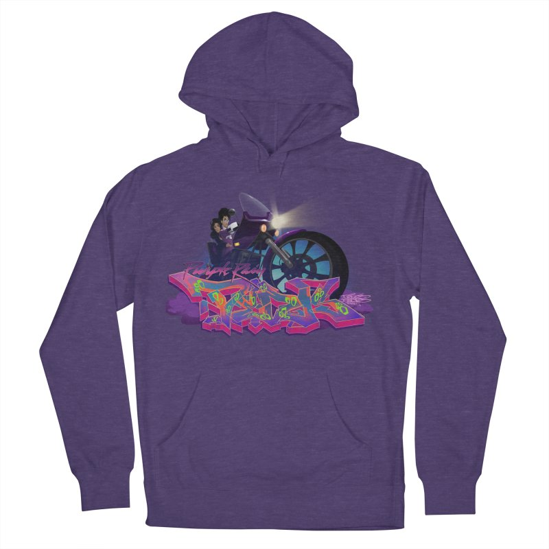 Dedos purple rain Men's French Terry Pullover Hoody by Dedos tees
