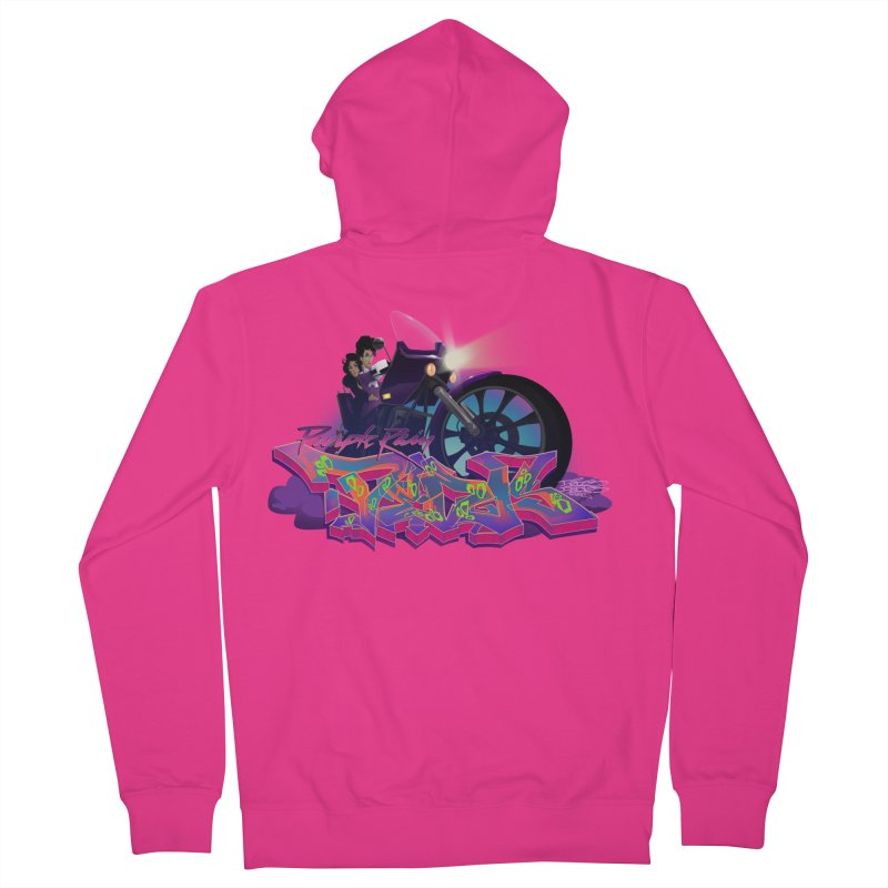 Dedos purple rain Men's Zip-Up Hoody by Dedos tees