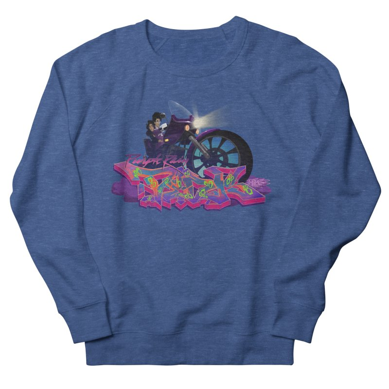Dedos purple rain Women's French Terry Sweatshirt by Dedos tees
