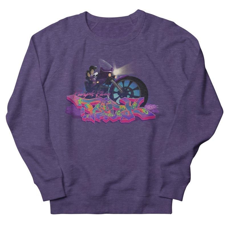 Dedos purple rain Men's French Terry Sweatshirt by Dedos tees