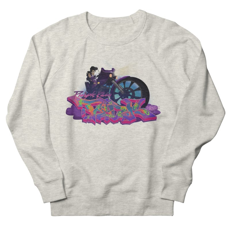 Dedos purple rain Men's French Terry Sweatshirt by Dedos tees