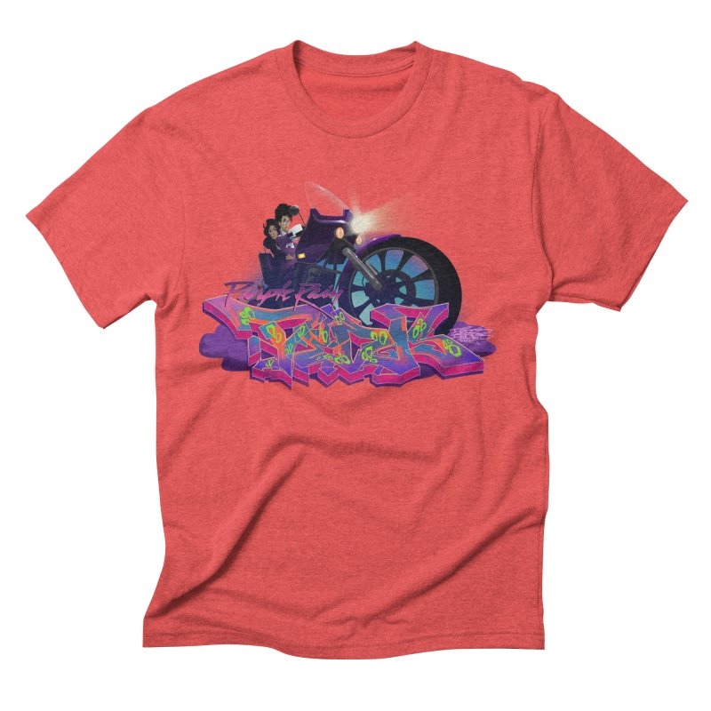 Dedos purple rain Men's Triblend T-Shirt by Dedos tees