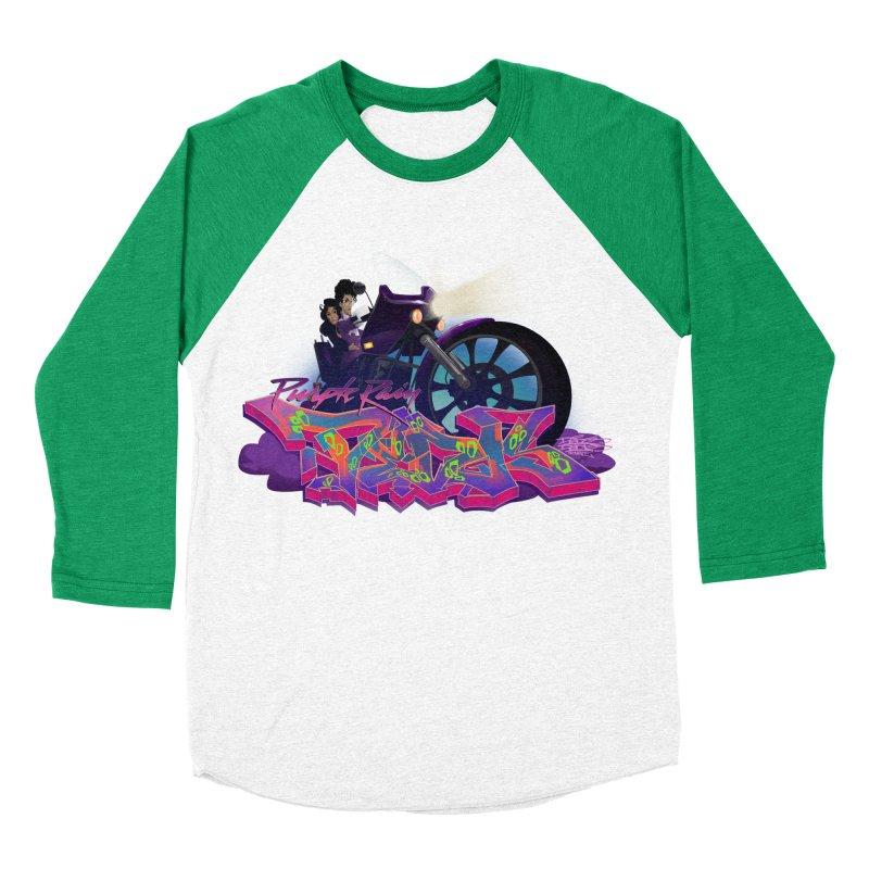 Dedos purple rain Women's Baseball Triblend Longsleeve T-Shirt by Dedos tees