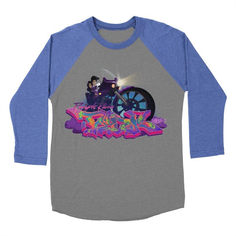 Dedos purple rain Women's Baseball Triblend T-Shirt by Dedos tees