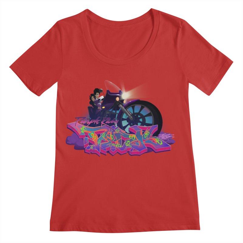 Dedos purple rain Women's Regular Scoop Neck by Dedos tees