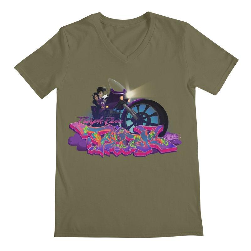 Dedos purple rain Men's Regular V-Neck by Dedos tees