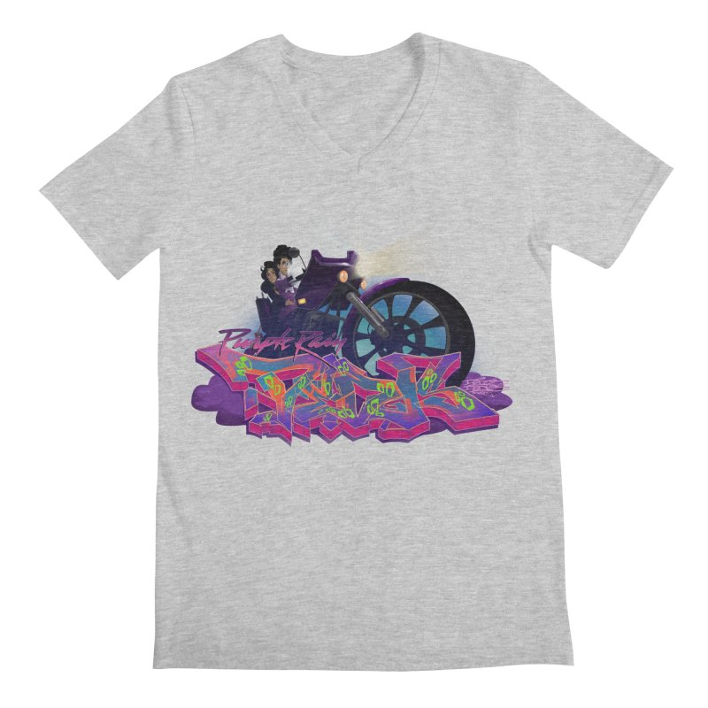 Dedos purple rain Men's Regular V-Neck by Dedos tees