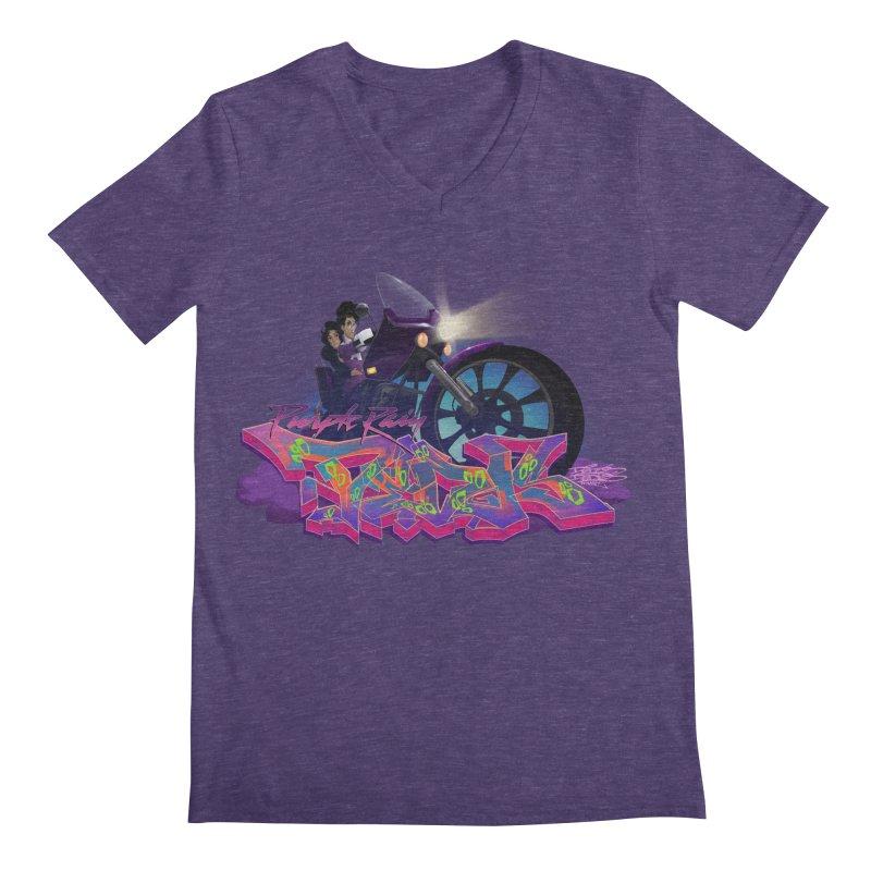 Dedos purple rain Men's V-Neck by Dedos tees