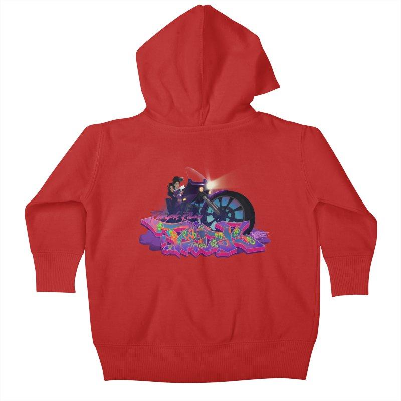Dedos purple rain Kids Baby Zip-Up Hoody by Dedos tees