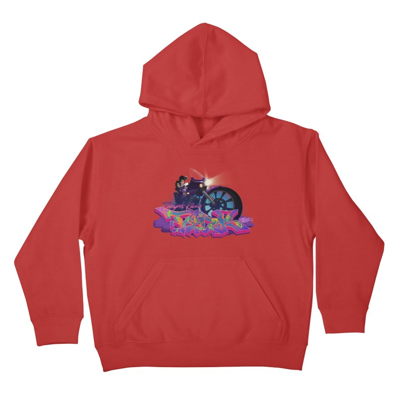 Dedos purple rain Kids Pullover Hoody by Dedos tees