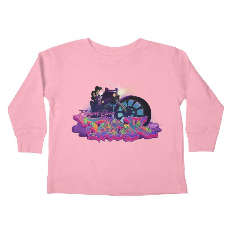 Dedos purple rain Kids Toddler Longsleeve T-Shirt by Dedos tees